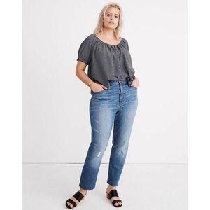 Madewell High Rise Slim Boyjean Raw Hem Jeans